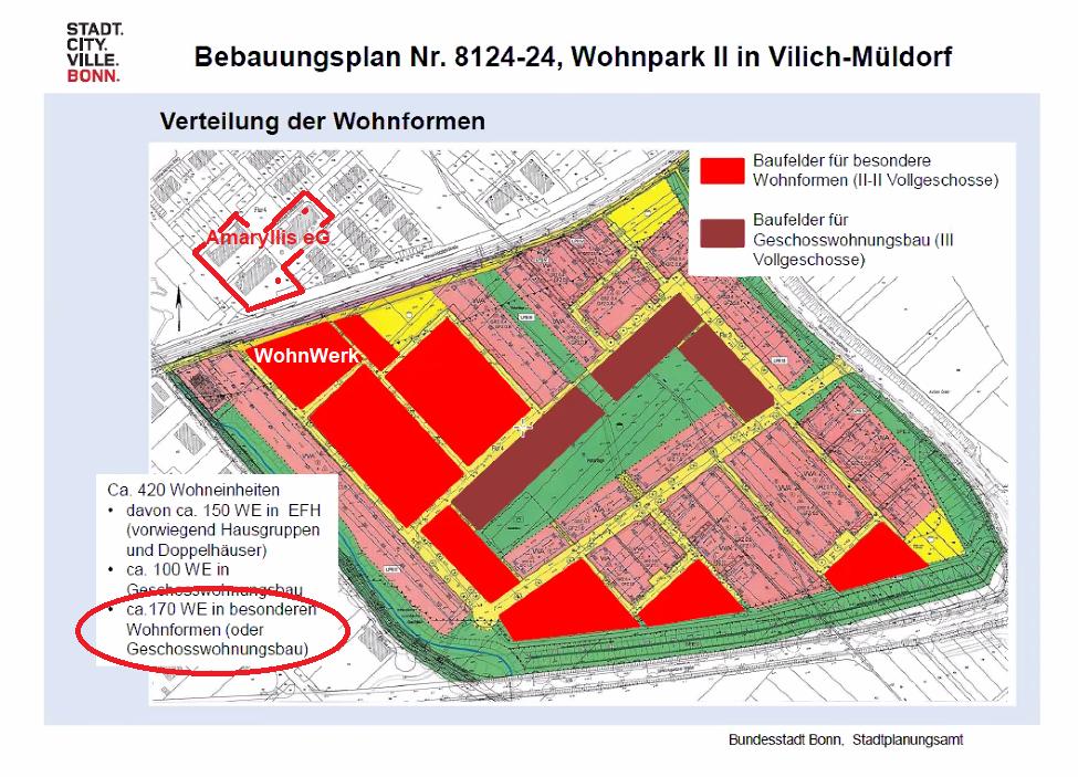 Neue Chancen für gemeinschaftliche Wohnprojekte im Wohnpark II in Vilich-Müldorf